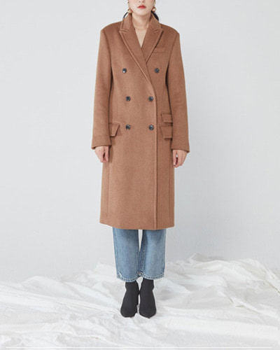 JO5 boxy double coat camel
