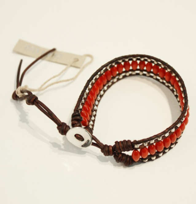 [CHAN LUU]Single Wrap braceletin Red