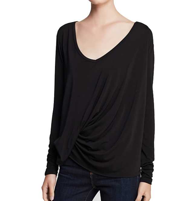 [Elizabeth & James]New L/S denver teein Black