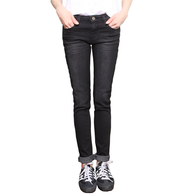 [ACQUAVERDE]SCARLETT DENIM PANTIN BLACK