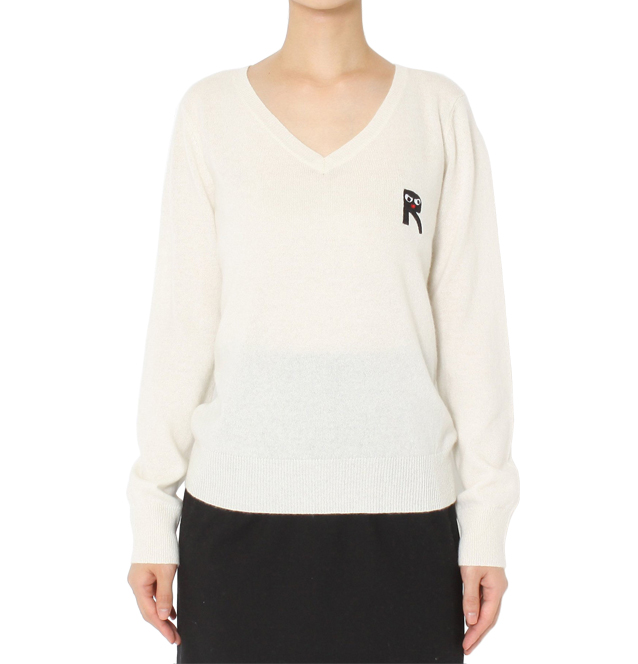 [RIKA]EDDIE V-NECK JUMPER2color