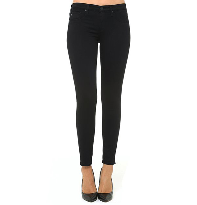 [AG jeans]THE LEGGING ANKLE JEANIN SUPER BLACK